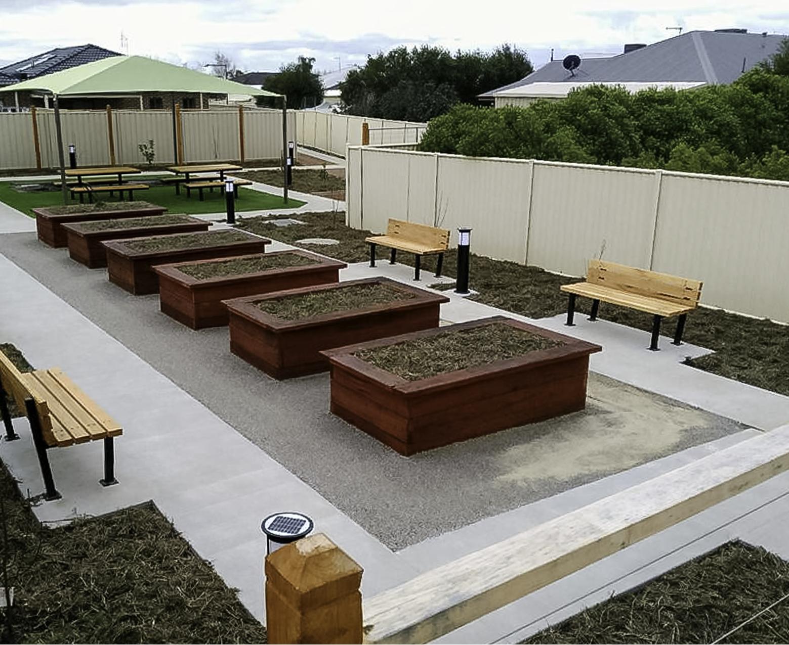 retirement village garden bed